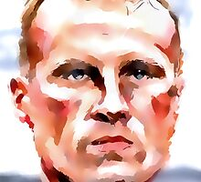Dennis 'The Iceman' Bergkamp by ArsenalArtz