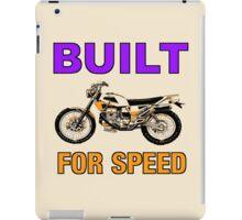 BUILT FOR SPEED-DIRT BIKE iPad Case/Skin