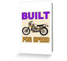 BUILT FOR SPEED-DIRT BIKE Greeting Card