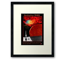 Travel to Mars Framed Print
