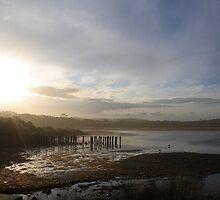 Sundown over Dee Why Lagoon by Spirit Level Creations