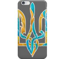 Blue and Yellow Ukrainian tryzub iPhone Case/Skin