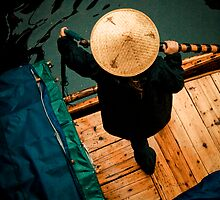 Chinese Paddling Lady by Kyle Livingstone