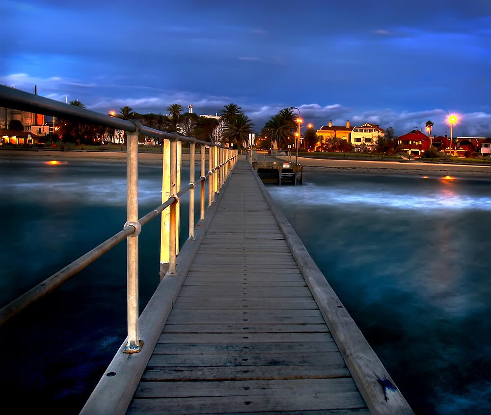 st kilda jetty by Melinda Kerr