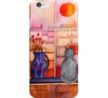 Cat's Window on the World iPhone Case/Skin