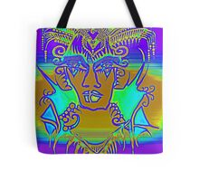 Tattoo - Purple and blues Tote Bag