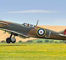 Spitfire Ia P9374/J G-MKIA three pointer by Colin Smedley