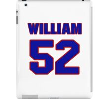 National football player William Kershaw jersey 52 iPad Case/Skin