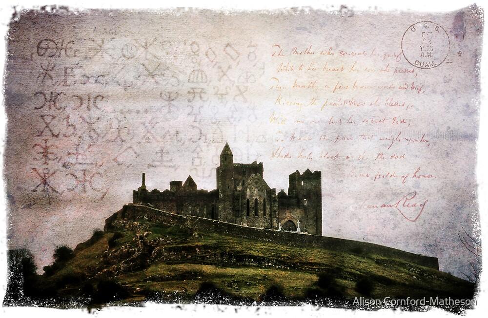 Forgotten Postcard - Rock of Cashel, Ireland by Alison Cornford-Matheson