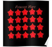 Princess Mars, Sailor Mars, sailor moon Red star locket  Poster