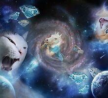 Cats & Unicorns in Space! by Vintagee