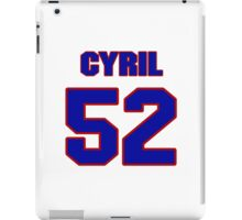 National football player Cyril Obiozor jersey 52 iPad Case/Skin