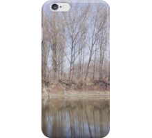 Line of Trees at Backwater iPhone Case/Skin