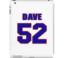 National football player Dave O'Brien jersey 52 iPad Case/Skin