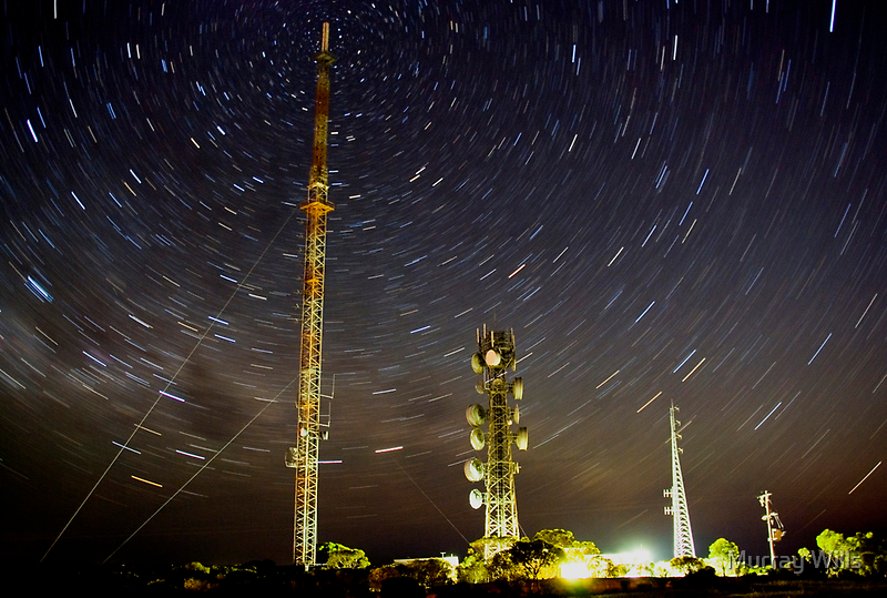 Star trail. Lawloit Translator by Murray Wills