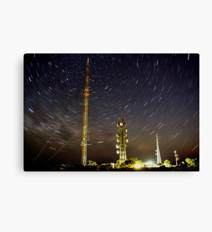 Star trail. Lawloit Translator Canvas Print