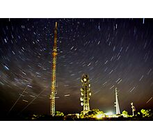 Star trail. Lawloit Translator Photographic Print