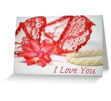 I Love You Card Greeting Card