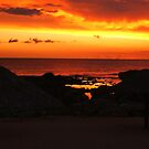 Fiery Hot Sky and Sea Scapes by Honor Kyne