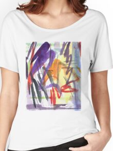 purple zigzag Women's Relaxed Fit T-Shirt