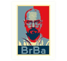 Breaking Bad Heisenberg (Obama HOPE Style) Poster Art Print