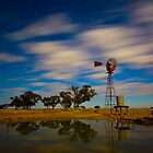 Wind Mill Moonlight by Murray Wills