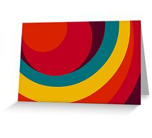 Colorful Abstract design  Greeting Card