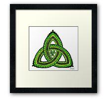 Celtic Clover Trinity Knot Triquetra Framed Print