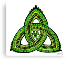 Celtic Clover Trinity Knot Triquetra Canvas Print