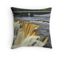 A Bridge Over Falling Water  Throw Pillow