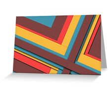 Multiple colors abstract  Greeting Card