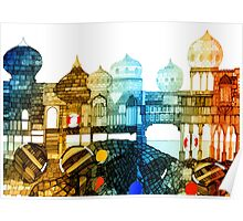 Seaside Turrets and Castles by the Sand Poster