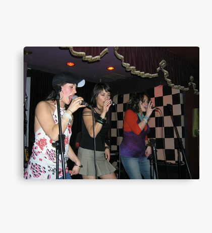 Live Girl Band Canvas Print