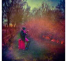 Girl with suitcase Photographic Print