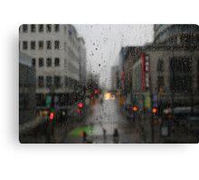 Rain drops in Vancouver Canvas Print