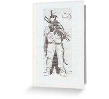 American Soldier Greeting Card
