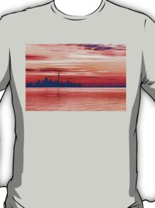 Pink and Purple Sunrise – Toronto Skyline Impressions T-Shirt