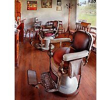Barber - Please have a seat Photographic Print