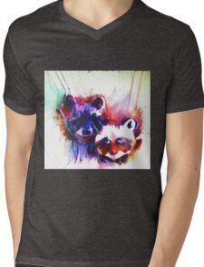 Rocky Raccoons Mens V-Neck T-Shirt
