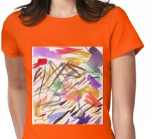 red splotch Womens Fitted T-Shirt