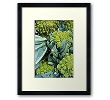 Crazy Broccoli Framed Print