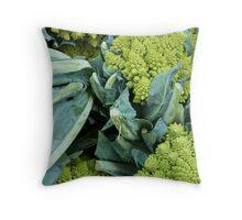 Crazy Broccoli Throw Pillow