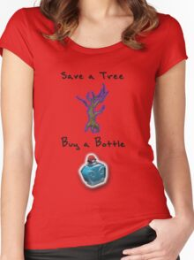 Save a Tree, Buy a Bottle - Print - DOTA2 Women's Fitted Scoop T-Shirt