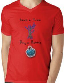 Save a Tree, Buy a Bottle - Print - DOTA2 Mens V-Neck T-Shirt