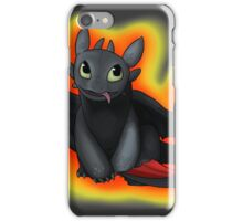 Toothless with Fire Background iPhone Case/Skin