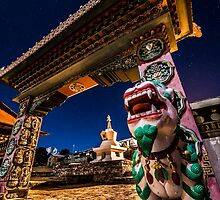 Tengboche Monastery Gate I by MatherForce