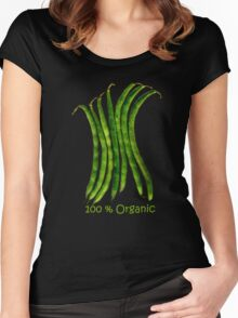 100 Percent Organic (Beans) Women's Fitted Scoop T-Shirt