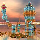 Alien Beach Resort Architecture - 3D digital art by Dave Martsolf
