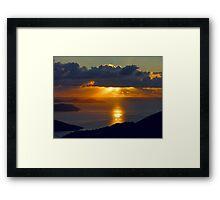 St. John Sunrise Framed Print