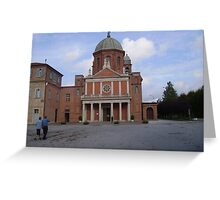 Front view of Cussanio Sanctuary Italy Greeting Card